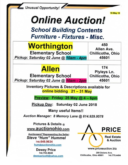 CCSD Online Auction - Worthington and Allen Elementary