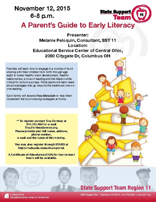 Register now for literacy workshop for parents